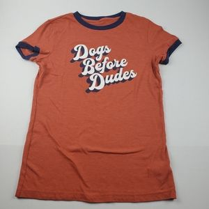 Free State Dogs Before Dudes Retro Ringer Tee L